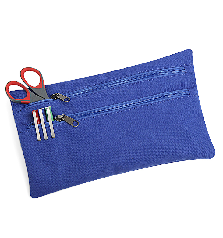 DOUBLE ZIP PENCIL CASE